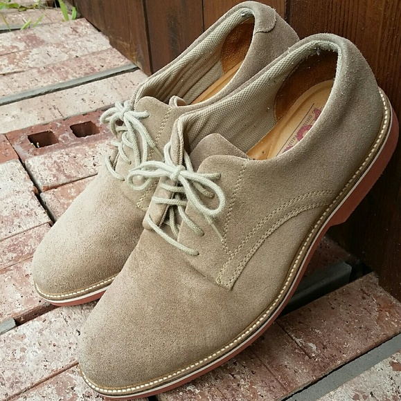 55665fda6 1901 Shoes | Mens Tan Suede Lace Up Oxford 115 M | Poshmark